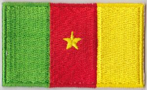 Cameroon Embroidered Flag Patch, style 04.